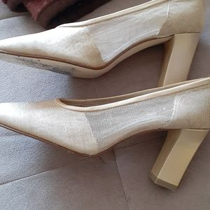 Lovely gold mesh shoes